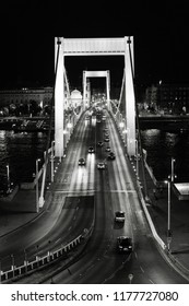 Elisabeth bridge at night in Budapest, Hungary