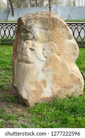 """ELISTA, RUSSIA - APRIL 19, 2017: City sculpture """"Foremother of the steppe"""". Kalmykia"""