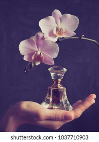 Elite Arab perfume in a crystal bottle. Attar Oud oil.