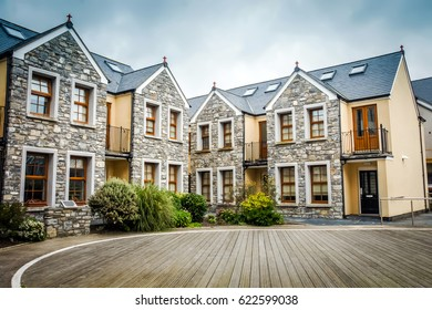 Elite house exterior in Isle of Man. Luxury Hotel window background.Luxury hotel design exterior Mansion property. Luxury lifestyle concept.Mansion exterior wall exterior. Mansion resort Hotel facade.