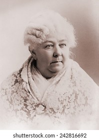 Elizabeth Cady Stanton (1815-1902), important leader of the 19th century women's rights movement in the United States. Portrait ca. 1890.