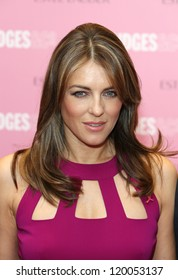 Elizabeth Hurley aka Liz Hurley at the Estee Lauder's Breast Cancer awareness campaign in Selfridges, London. 08/10/2012 Picture by: Henry Harris