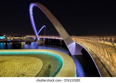 Elizabeth Quay bridge in Perth