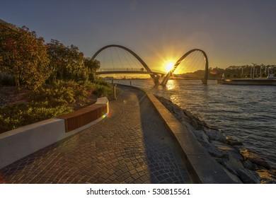 Elizabeth Quay, A New Landmark in The City of Perth, Western Australia.