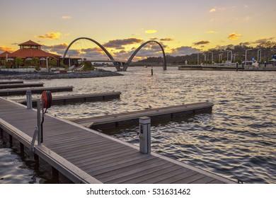 Elizabeth Quay, new Tourist destination in Perth, Western Australia