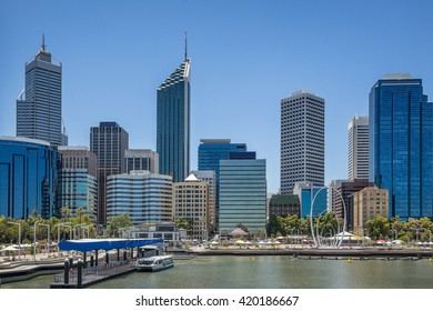 Elizabeth Quay on the waterfront of Perth in Western Australia