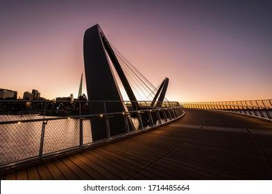 Elizabeth Quay Walk Bridge Perth Western Australia