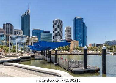 Elizabeth Quay waterfront in Perth Western Australia