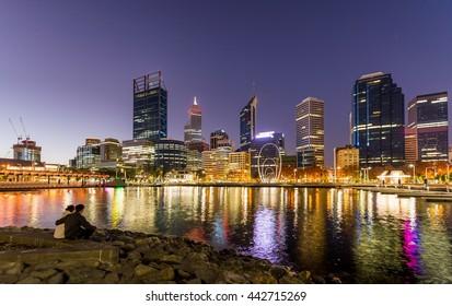 Elizabeth Quay-Perth, capital of Western Australia, where the Swan River meets the southwest coast.