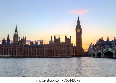 Elizabeth Tower in London also known as Big Ben