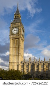 The Elizabeth Tower, otherwise known as the Big Ben clocktower, is part of the  Palace of Westminster.