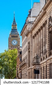 The Elizabeth Tower sits about the UK's Houses of Parliament and is one of the most recognisable clock towers in the world. The tower hosts the equally famous 'Big Ben' bell.
