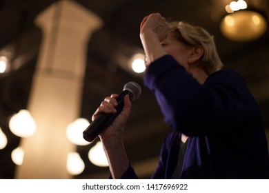 Elizabeth Warren campaigns at the Ace Hotel in NYC. New York, NY/USA – May 29th, 2019