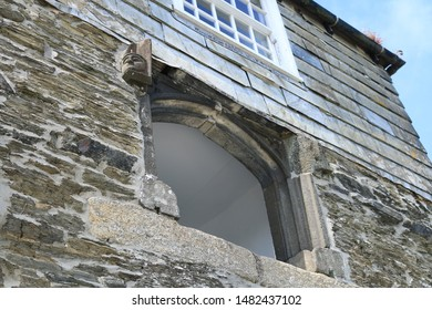 Elizabethan stone balcony from a cottage. A stone balcony from a fisher mans cottage.