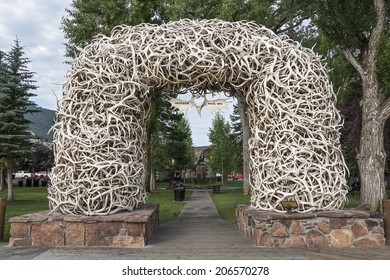 Elk Antler Arches in Jackson Town Square, Wyoming