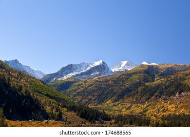 Elk Mountains Colorado in Fall