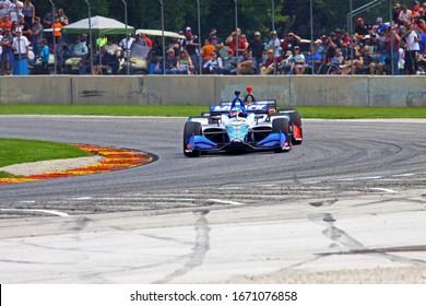 Elkhart Lake, Wisconsin- June 23, 2019: 30 Takuma Sato, Japan, Rahal Letterman Lanigan Racing, NTT Indycar race at Road America.