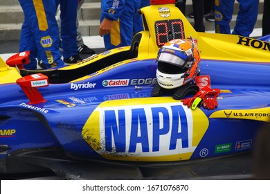 Elkhart Lake, Wisconsin- June 23, 2019: 27 Alexander Rossi, USA, Andretti Autosport, Victory Circle NTT Indycar race at Road America.