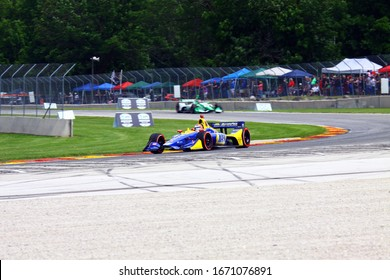 Elkhart Lake, Wisconsin- June 23, 2019: 27 Alexander Rossi, USA, Andretti Autosport, NTT Indycar race at Road America.