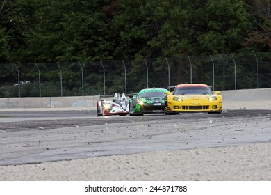 Elkhart Lake Wisconsin, USA - August 18, 2012: Road America Road Race Showcase, ALMS / IMSA sports car and GT race. American Le Mans Series. Oliver Gavin, Tommy Milner, Chevrolet Corvette C6.R