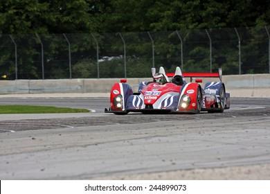 Elkhart Lake Wisconsin, USA - August 18, 2012: Road America Road Race Showcase, ALMS / IMSA LMP. American Le Mans Series. Henri Richard, Duncan Ende, Dempsey Racing,