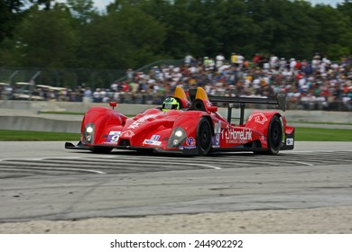 Elkhart Lake Wisconsin, USA - August 18, 2012: Road America Road Race Showcase, ALMS / IMSA. American Le Mans Series Four-hour, timed period. Bruno Junqueira, Roberto Gonzalez,