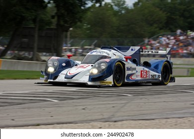 Elkhart Lake Wisconsin, USA - August 18, 2012: Road America Road Race Showcase, ALMS / IMSA sports car race winner. American Le Mans Series Four-hour, timed. Chris Dyson, Guy Smith, Lola B12/60