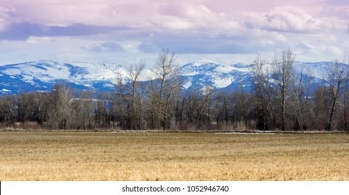 Elkhorn Mountains outside Helena Montana in spring