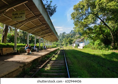 Ella, Sri Lanka, 03-Dec-2015: This shot was taken in Ella, Sri Lanka. Ella railway station is very small, but it is one of most beautiful railway station of Sri Lanka.