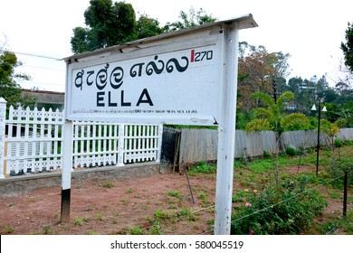 ELLA, SRI LANKA – FEBRUARY 02: The main line railroad at Ella, Sri Lanka on 02 February 2017. The line begins in Colombo fort and winds through the Sri Lankan hill country to reach Badulla