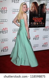 "Elle Fanning at the ""Ginger And Rosa"" Special Screening AFI FEST 2012, Chinese Theater, Hollywood, CA 11-07-12"