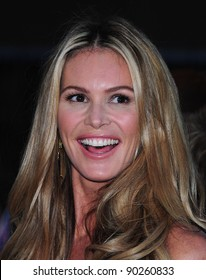 Elle MacPherson arriving for the 2011 Pride Of Britain Awards, at the Grosvenor House Hotel, London. 04/10/2011 Picture by: Simon Burchell / Featureflash