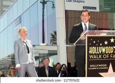 Ellen Degeneres, Jimmy Kimmel at the Ellen Degeneres Star on the Hollywood Walk of Fame Ceremony, Hollywood, CA 09-04-12