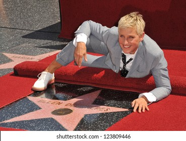 Ellen DeGeneres on Hollywood Blvd where she was honored with the 2,477th star on the Hollywood Walk of Fame. September 4, 2012  Los Angeles, CA Picture: Paul Smith
