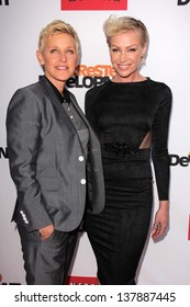 """Ellen Degeneres, Portia de Rossi at the """"Arrested Development"""" Los Angeles Premiere, Chinese Theater, Hollywood, CA 04-29-13"""