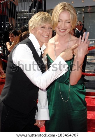Ellen DeGeneres, Portia de Rossi at 35th Annual Daytime Emmy Awards, Kodak Theatre, HOLLYWOOD, CA, June 20, 2008