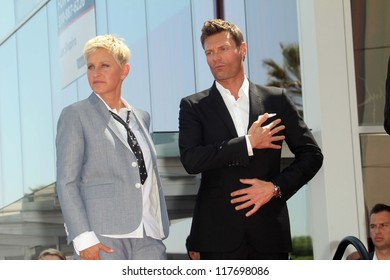 Ellen Degeneres, Ryan Seacrest at the Ellen Degeneres Star on the Hollywood Walk of Fame Ceremony, Hollywood, CA 09-04-12
