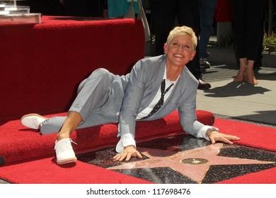 Ellen DeGeneres at the Ellen Degeneres Star on the Hollywood Walk of Fame Ceremony, Hollywood, CA 09-04-12