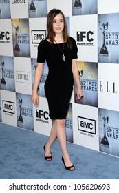 Ellen Page at the 2009 Film Independent's Spirit Awards. Santa Monica Pier, Santa Monica, CA. 02-21-09