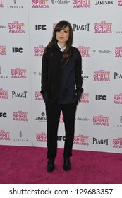 Ellen Page at the 2013 Film Independent Spirit Awards on the beach in Santa Monica. February 23, 2013  Santa Monica, CA Picture: Paul Smith