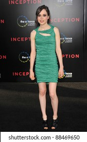 """Ellen Page at the Los Angeles premiere of her new movie """"Inception"""" at Grauman's Chinese Theatre, Hollywood. July 13, 2010  Los Angeles, CA Picture: Paul Smith / Featureflash"""