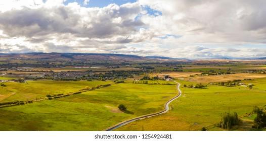 Ellensburg Washington Yakima River Panorama