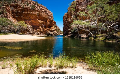 Ellery creek big hole in the West MacDonnell Ranges in NT outback Australia