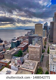 Seattle's Elliott Bay from the Smith Tower