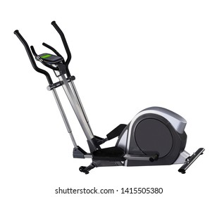 ellipse trainer machine on a white background isolated
