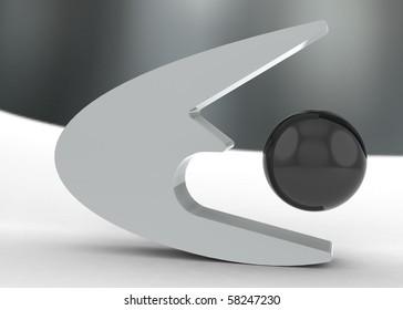 elliptical black