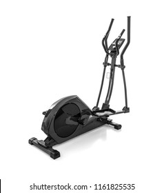 Elliptical trainer or orbitrack isolated on white background.