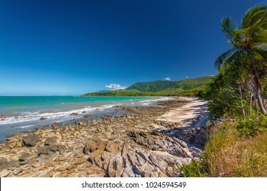 Ellis Beach with rocks near Palm Cove, north Queensland, Australia