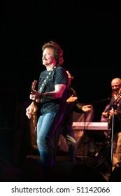 ELLIS ISLAND - APRIL 14: Tom Johnston of the Dobbie Brothers Band performed live on Ellis Island April 14, 2010 in New York.