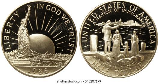 Ellis Island Half Dollar Commemorative